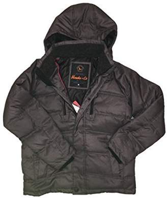 Hawke & Co Mens Down Feather Fill Coat with Removable Hood (M, )