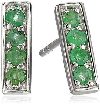 Genuine Emerald Ear Bars Earrings