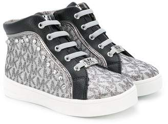 Michael Kors Kids Ivy Gia hi-top sneakers