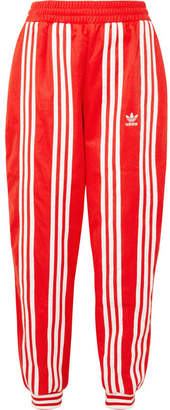 adidas Ji Won Choi Striped Cotton-blend Jersey Track Pants - Red