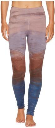 Hard Tail - High-Waist Tri-Tone Leggings Women's Casual Pants $95 thestylecure.com