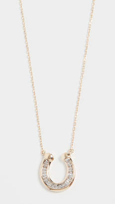 Adina Baguette Horseshoe Necklace