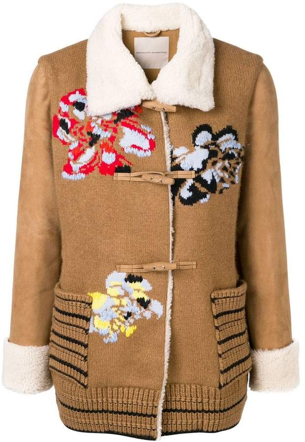 floral embroidery short coat