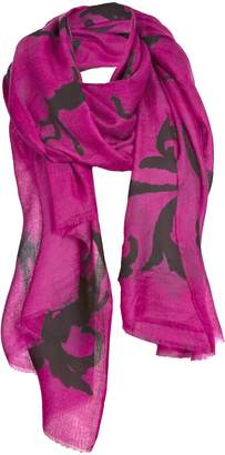 Asneh - Lola Cashmere Scarf in Pink and Black