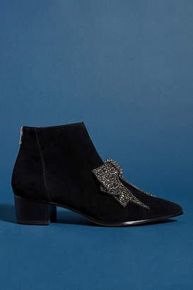 Faryl Robin Alvis Bow-Embellished Ankle Boots