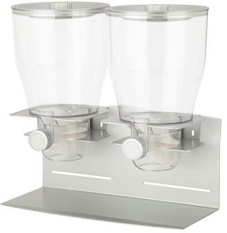 Honey-Can-Do Commercial Plus Silver Double Canister Dispenser
