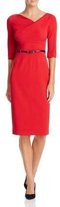 Black Halo Jackie O Belted Sheath Dress