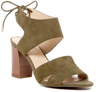 Franco Sarto Gem Snake Embossed Sandal $89 thestylecure.com