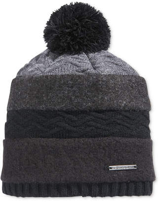 Sean John Men's Mixed-Media Pom Beanie, Created for Macy's