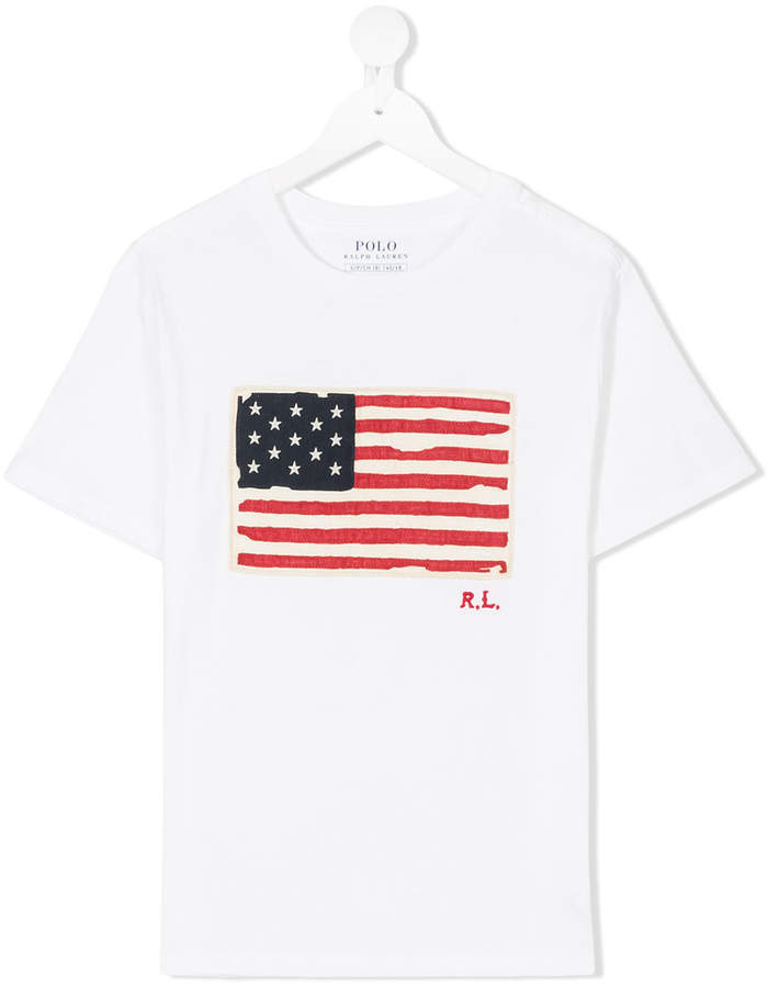 American flag print T-shirt