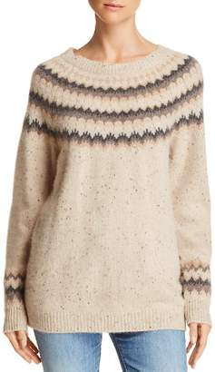 Bloomingdale's C by Fair Isle Donegal Cashmere Sweater - 100% Exclusive