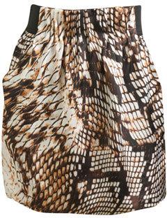 Arden B Python Print Bubble Skirt
