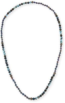 Hipchik Francine Turquoise, Agate & Rhinestone Beaded Necklace