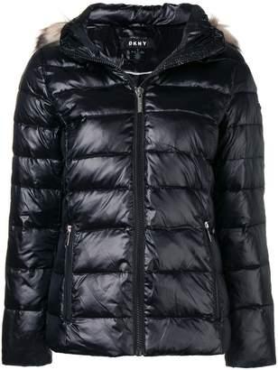DKNY hooded puffer jacket