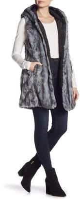 Via Spiga Faux Fur Reversible Long Vest