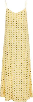 Ganni Printed Crepe Midi Slip Dress