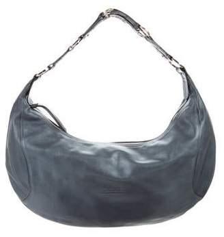 Longchamp Metallic Leather Hobo