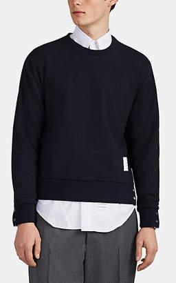 Thom Browne Men's Cotton French Terry Crewneck Sweatshirt - Navy