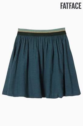 Fat Face Girls FatFace Green Jacquard Star Skirt - Green