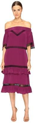 Prabal Gurung Off Shoulder Tiered Ruffle Dress Women's Dress