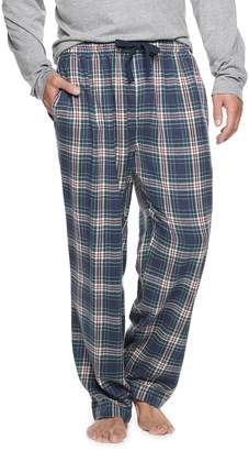 Chaps Big & Tall Plaid Flannel Sleep Pants