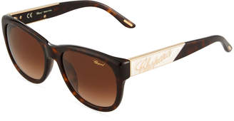 Chopard Round Tortoiseshell Acetate Sunglasses
