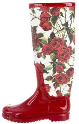 Dolce & Gabbana Floral Rain Boots