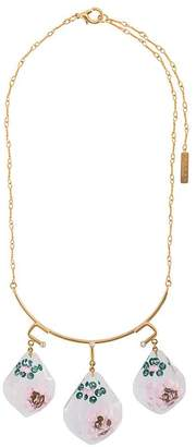 Marni suspended flower pendant necklace