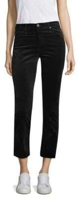 AG Jeans Jodi High-Rise Crop Flare Velvet Pants