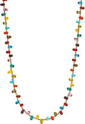Mudd Gold-Tone Glass Beaded Long Necklace