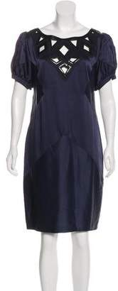 Andrew Gn Satin Knee-Length Dress