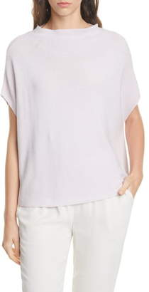 Eileen Fisher Funnel Neck Silk Blend Sweater