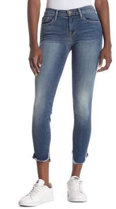 Frame Le Skinny De Jeanne Fray Hem Jeans