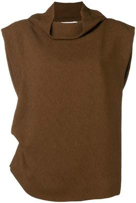 Jil Sander draped blouse