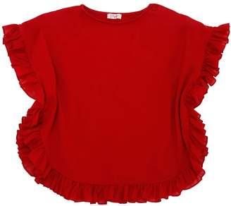 Il Gufo Ruffled Cotton Jersey T-Shirt