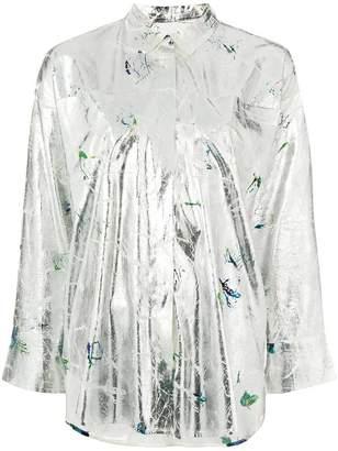 MSGM foil effect shirt