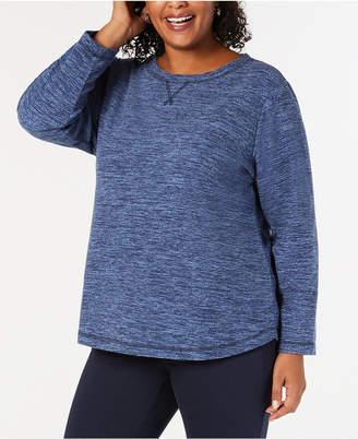 Karen Scott Plus Size Microfleece Long-Sleeve Top