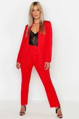 boohoo Plus Self Belt Tailored Trousers
