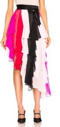 dd8f273483 Rodarte Asymetrical Silk Chiffon Skirt in Multi | FWRD