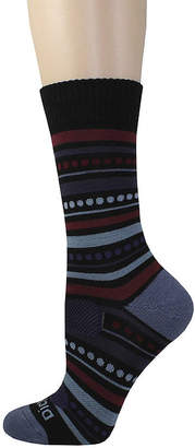 Dickies 1 Pair Womens Wool-Blend Striped Crew Socks