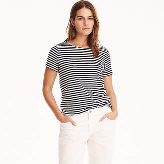 J.Crew Supersoft Supima® raw-edge T-shirt in stripes