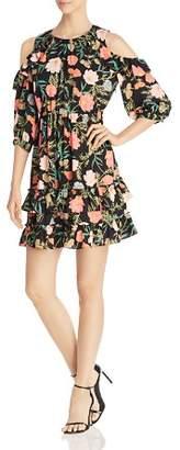 Kate Spade Blossom Cold Shoulder Ruffle Dress