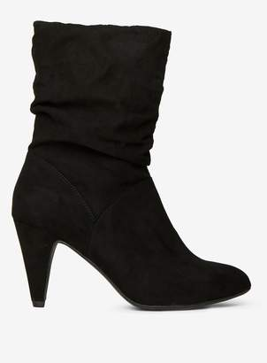 Dorothy Perkins Womens Black 'Kylie' Ruched Boots