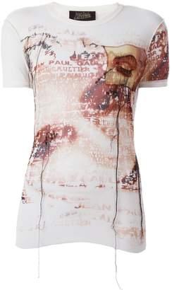 Jean Paul Gaultier Pre-Owned sheer printed T-shirt