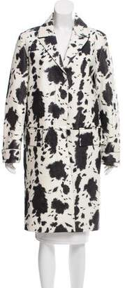 Burberry Printed Leather Coat w/ Tags