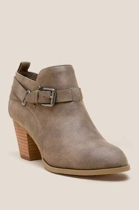 Report Caroline Distressed Belted Ankle Boot - Olive