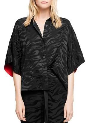 Zadig & Voltaire Topaz Silk Jacquard Tigre Shirt
