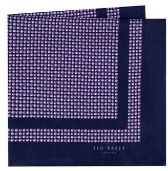 Ted Baker Micro Dot Silk Pocket Square