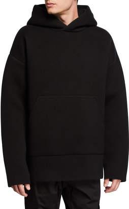 Bottega Veneta Men's Solid Oversized Hoodie Sweatshirt