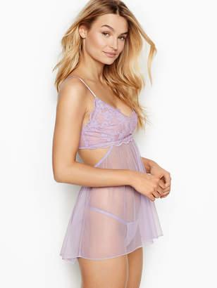 Victoria's Secret Dream Angels Scalloped Lace Babydoll Lingerie